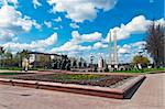 Belarus nice Vitebsk spring landscape view World war two victory square Stock Photo - Royalty-Free, Artist: mrVitkin                      , Code: 400-04858917