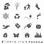 Eco symbols and icon set Stock Photo - Royalty-Free, Artist: soleilc                       , Code: 400-04859089