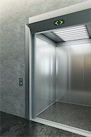 modern elevator with open doors Stock Photo - Royalty-Freenull, Code: 400-04860692