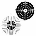 Set targets for practical pistol shooting, exercise. Vector illustration Stock Photo - Royalty-Free, Artist: aarrows                       , Code: 400-04861450