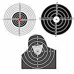 Set targets for practical pistol shooting, exercise. Vector illustration Stock Photo - Royalty-Free, Artist: aarrows                       , Code: 400-04861455
