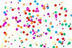 colored round confetti spilled on white Stock Photo - Royalty-Free, Artist: raysay                        , Code: 400-04861761