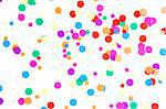 colored round confetti spilled on white Stock Photo - Royalty-Free, Artist: raysay                        , Code: 400-04861762