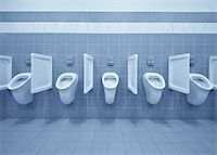 Clean public men toilet room, wc Stock Photo - Royalty-Freenull, Code: 400-04862183