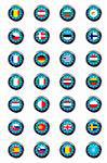 Buttons with European Union flags Stock Photo - Royalty-Free, Artist: hibrida13                     , Code: 400-04862270