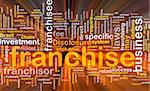 Background concept wordcloud illustration of franchise glowing light Stock Photo - Royalty-Free, Artist: kgtoh                         , Code: 400-04863059