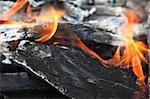 Burning wood, open fire Stock Photo - Royalty-Free, Artist: kadroff                       , Code: 400-04863533