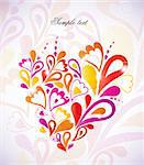 Heart Swirls in the Shape. Vector Illustration Stock Photo - Royalty-Free, Artist: emaria                        , Code: 400-04863609