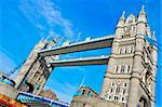 a view of Tower Bridge in London, United Kingdom