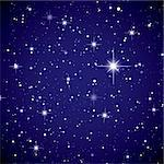 Sparkling nights sky with stars and dark space view Stock Photo - Royalty-Free, Artist: Nicemonkey                    , Code: 400-04863981