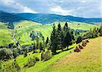 beautiful summer mountain and small village on mountainside (Carpathian. Ukraine) Stock Photo - Royalty-Free, Artist: Yuriy                         , Code: 400-04866521