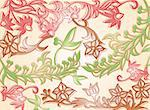 Classical background with a flower pattern. Vector illustration Stock Photo - Royalty-Free, Artist: emaria                        , Code: 400-04868127