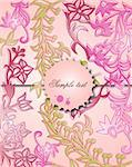 Classical background with a flower pattern. Vector illustration Stock Photo - Royalty-Free, Artist: emaria                        , Code: 400-04868131