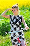 Young girl with a vintage bicycle Stock Photo - Royalty-Free, Artist: jordache                      , Code: 400-04868203