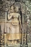Apsara carved on the wall at bayon, cambodia Stock Photo - Royalty-Free, Artist: supereagle                    , Code: 400-04869951