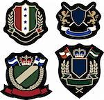 royal stylish emblem shield Stock Photo - Royalty-Free, Artist: pauljune                      , Code: 400-04869961