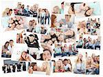 Collage of groups of young people having fun together in various situations Stock Photo - Royalty-Free, Artist: 4774344sean                   , Code: 400-04871458