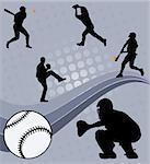 baseball players on the abstract background - vector Stock Photo - Royalty-Free, Artist: nebojsa78                     , Code: 400-04872641