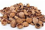 Walnut shell Stock Photo - Royalty-Free, Artist: SeDmi                         , Code: 400-04875534
