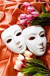Theatre concept with the white plastic masks Stock Photo - Royalty-Free, Artist: ElnurCrestock                 , Code: 400-04876209