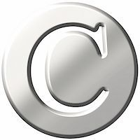 fancy letters - 3d steel letter C isolated in white Stock Photo - Royalty-Freenull, Code: 400-04876522