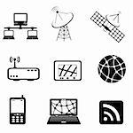 Communication, technology and computer icon set Stock Photo - Royalty-Free, Artist: soleilc                       , Code: 400-04878290