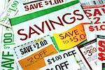 Cut up some coupons to save money Stock Photo - Royalty-Free, Artist: johnkwan                      , Code: 400-04880074