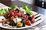 Greek Mediterranean salad with feta cheese, olives and peppers Stock Photo - Royalty-Free, Artist: Preto_perola                  , Code: 400-04880554