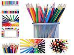 Collage of crayons Stock Photo - Royalty-Free, Artist: 4774344sean                   , Code: 400-04881408