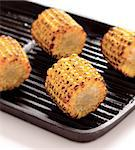 close up of grilled corn cobs Stock Photo - Royalty-Free, Artist: zkruger                       , Code: 400-04882639