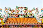dragon statue on the roof, thailand Stock Photo - Royalty-Free, Artist: mrpuen                        , Code: 400-04883075