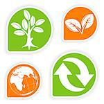Collect sticker with environment icon, tree, leaf, Earth and Recycling Symbol, vector illustration Stock Photo - Royalty-Free, Artist: TAlex                         , Code: 400-04883825