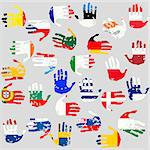 Hands with European Union countries flags Stock Photo - Royalty-Free, Artist: hibrida13                     , Code: 400-04886153