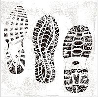 A high detailed set of three grunge shoe tracks Stock Photo - Royalty-Freenull, Code: 400-04887518