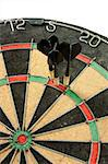 Concept of having business success by throwing darts Stock Photo - Royalty-Free, Artist: Kartouchken                   , Code: 400-04888309