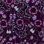 Vector seamless pattern of fashion jewelry (from  my big vector 