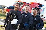 Portrait of paramedics standing in front of Medevac Stock Photo - Royalty-Free, Artist: MonkeyBusinessImages          , Code: 400-04890189