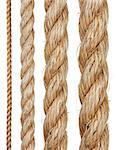 Set of various ropes isolated on white background Stock Photo - Royalty-Free, Artist: krasyuk                       , Code: 400-04890365