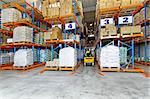Distribution warehouse interior with racks and shelves Stock Photo - Royalty-Free, Artist: Baloncici                     , Code: 400-04891101
