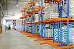 Distribution warehouse interior with racks and shelves Stock Photo - Royalty-Free, Artist: Baloncici                     , Code: 400-04891103
