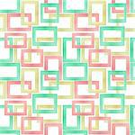 Seamless Background Pattern Made From Photographs of Pastel Wooden Frames.