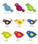 Bird Collection Stock Photo - Royalty-Free, Artist: karanta                       , Code: 400-04893282