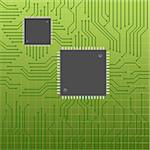 Circuit or mother board with chips Stock Photo - Royalty-Free, Artist: soleilc, Code: 400-04893941
