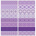 Lilac trim or border collection over white background Stock Photo - Royalty-Free, Artist: karanta                       , Code: 400-04894845