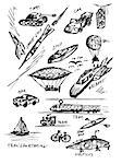 hand drawn transportaion icons from my fantasy Stock Photo - Royalty-Free, Artist: jonnysek                      , Code: 400-04895326