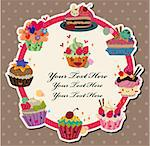cartoon cake card   Stock Photo - Royalty-Free, Artist: notkoo2008                    , Code: 400-04897819