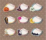 cartoon Halloween Sticker Label