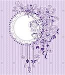 Violet vintage decorative floral background with place for text. Stock Photo - Royalty-Free, Artist: tatianat                      , Code: 400-04898770