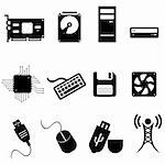 Computer and technology icon set Stock Photo - Royalty-Free, Artist: soleilc                       , Code: 400-04898871