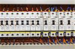 Control panel with circuit-breakers (fuse) Stock Photo - Royalty-Free, Artist: stoonn                        , Code: 400-04898954